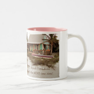 Beach Time Florda Cottage theme Two-Tone Coffee Mug