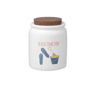 Beach Time Fun Candy Jar