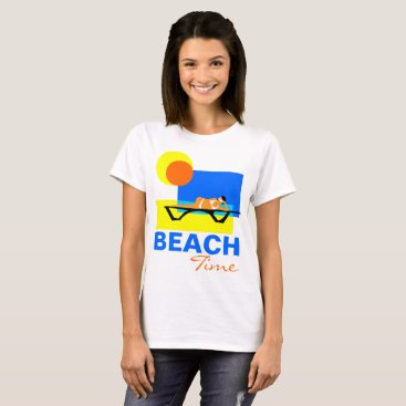 Beach Themed Beach Time funny customizable T-Shirt