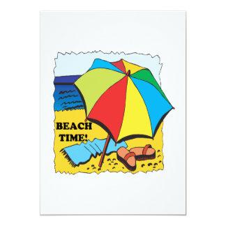Beach Time 5x7 Paper Invitation Card