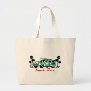 Beach Time Large Tote Bag