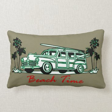 Beach Themed Beach Time Lumbar Pillow