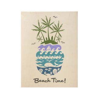 Beach Time - morning poster