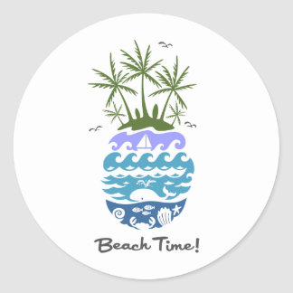 Beach Time - morning sticker