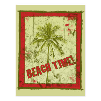 Beach Time! Party Invitations Postcard