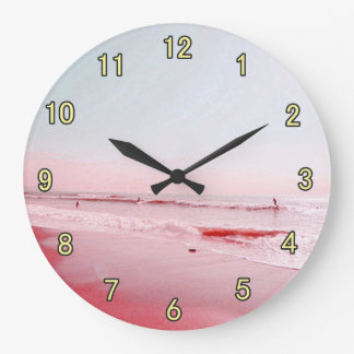 Beach time!, relaxing beautiful beach large clock