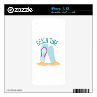 Beach Time Skin For iPhone 4S