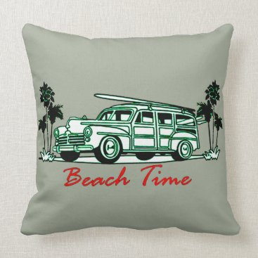 Beach Themed Beach Time Throw Pillow