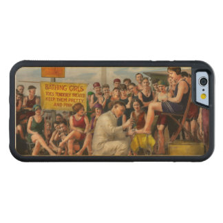 Beach - Toes Tenderly Treated 1922 Carved® Maple iPhone 6 Bumper