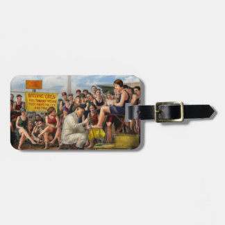 Beach - Toes Tenderly Treated 1922 Luggage Tag