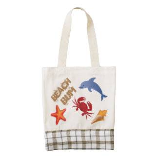 Beach Tot Zazzle HEART Tote Bag