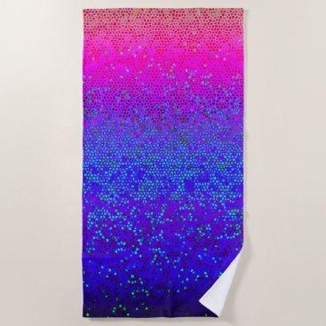 Beach Themed Beach Towel Glitter Star Dust