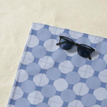 Beach Themed Beach Towel - Overlapping Blue Dots