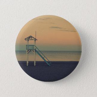 Beach Tower Sunset Pinback Button