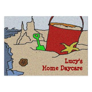 Beach Toys Daycare Advertising Large Business Cards (Pack Of 100)