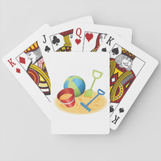 Beach Toys Playing Cards