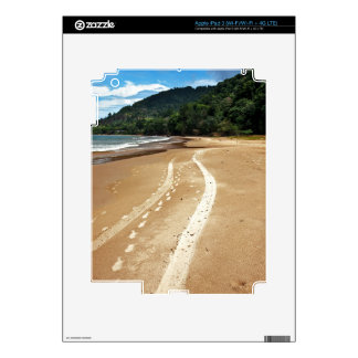beach tracks decals for iPad 3