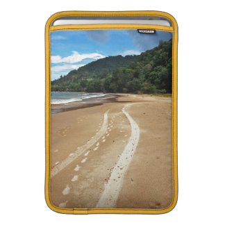 beach tracks MacBook sleeve