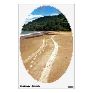 beach tracks wall decal