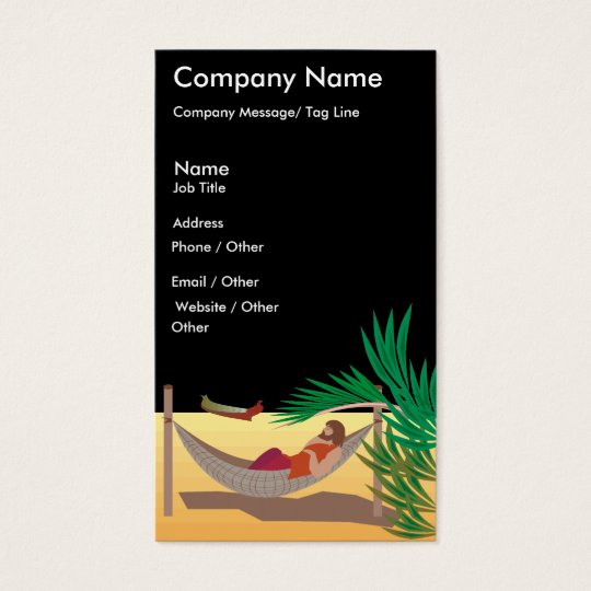 Beach Travel Template Business Card