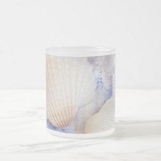 Beach Treasures Frosted Glass Coffee Mug