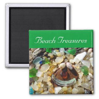 Beach Treasures magnets Agate Rocks Seaglass