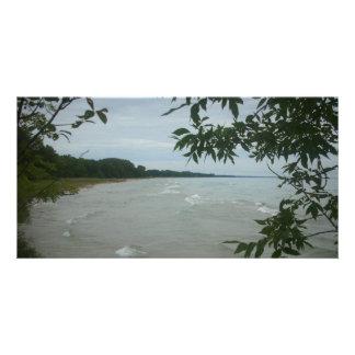 Beach Tree Frame Custom Photo Card
