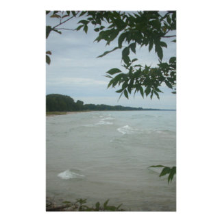 Beach Tree Frame Customized Stationery