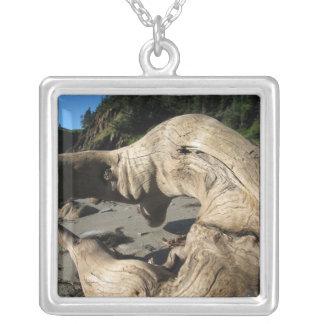 Beach Tree Wonder Square Pendant Necklace