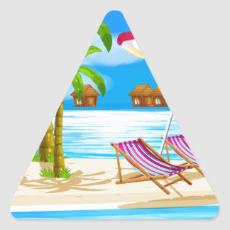 Beach Triangle Sticker
