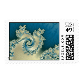 Beach Triple Twirl Postage Stamp