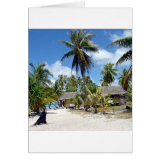 Beach Tropical Bed Breakfast Greeting Cards