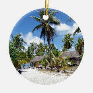 Beach Tropical Bed Breakfast Ceramic Ornament