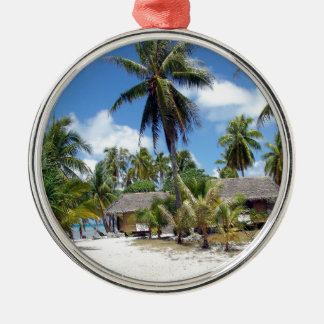 Beach Tropical Bed Breakfast Metal Ornament