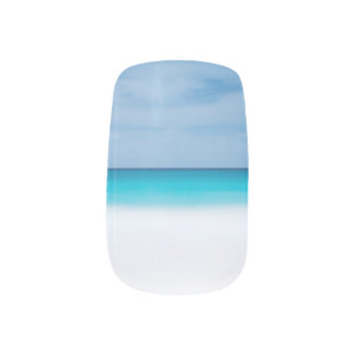 Beach tropical horizon ocean paradise sea photo minx ® nail wraps