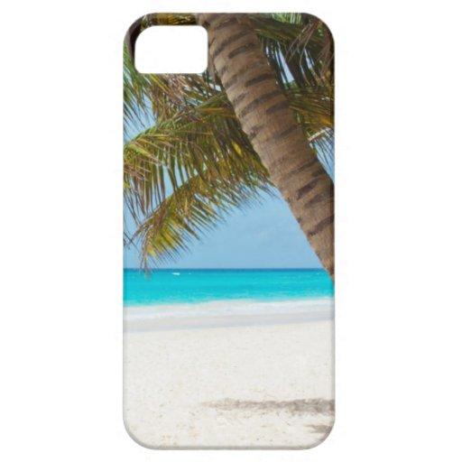 Beach tropical palm tree ocean paradise photo iPhone 5 case