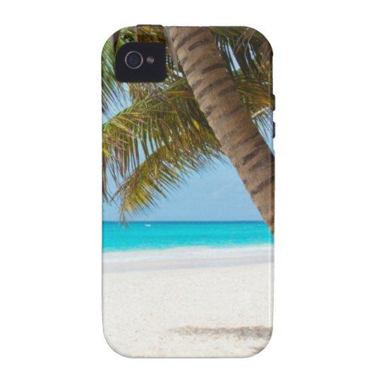 Beach tropical palm tree ocean paradise photo iPhone 4/4S case