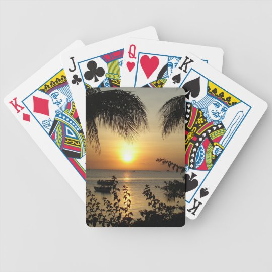 Beach Tropical Paradise Bicycle Playing Cards