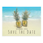 Beach Tropical Pineapple Save the Date Postcard