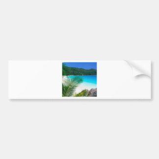 Beach Tropical Retreat Seychelles Bumper Sticker