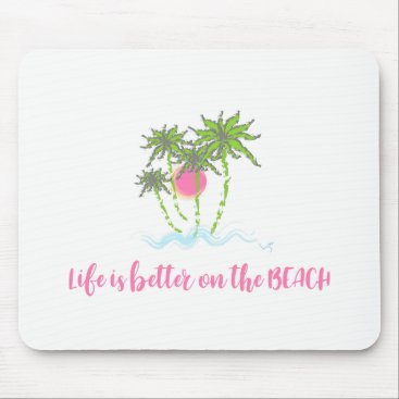 Beach Themed Beach Tropical Style Summer Graphic Mouse Pad