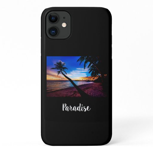 Beach Tropical Sunset iPhone 11 Case