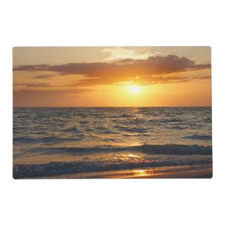 Beach Tropical Sunset Laminated Place Mat