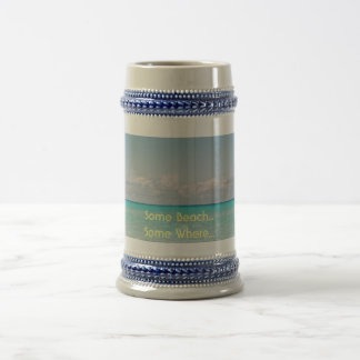 Beach Tropical Vacation 18 Oz Beer Stein