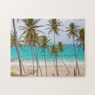 Beach Tropical with Palm Trees Jigsaw Puzzle