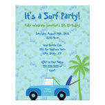 Beach Truck Surf Party Invitation - Blue
