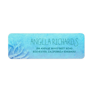 Beach Turquoise Ombre Wedding Label