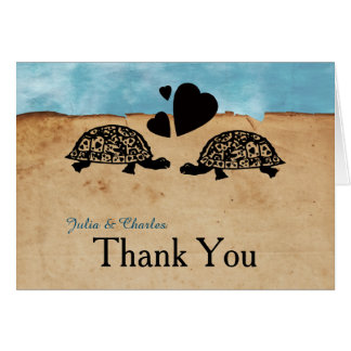 Beach Turtle Whimsical Personalized Thank You Card