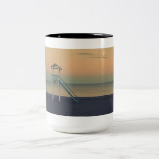 beach Two-Tone coffee mug