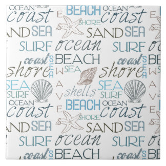 Beach Typography Tile